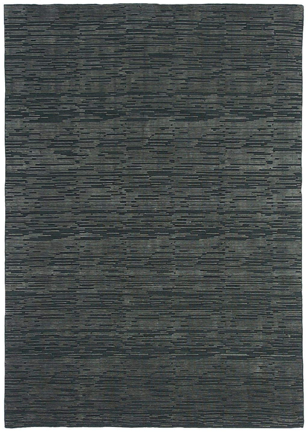Amal Charcoal Striped Wool Blend Rug