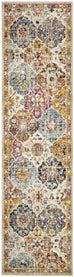Andalusia Multi Colour Floral Medallion Runner Rug