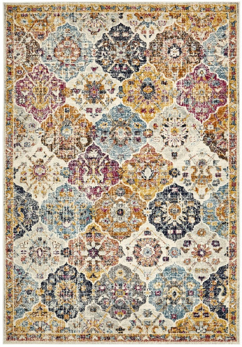 Andalusia Multi Colour Floral Medallion Transitional Rug