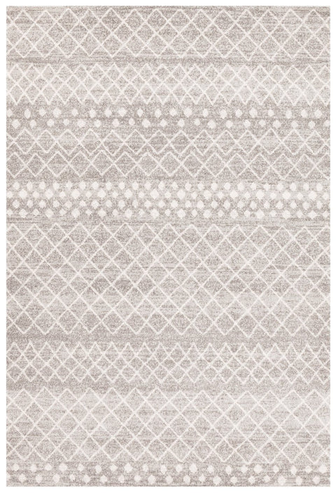 Apopa Grey & White Diamond Pattern Rug