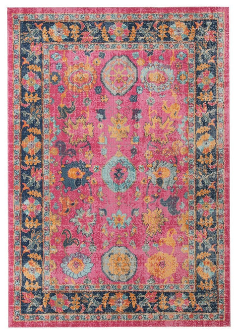 Armant Pink Distressed Transitional Rug