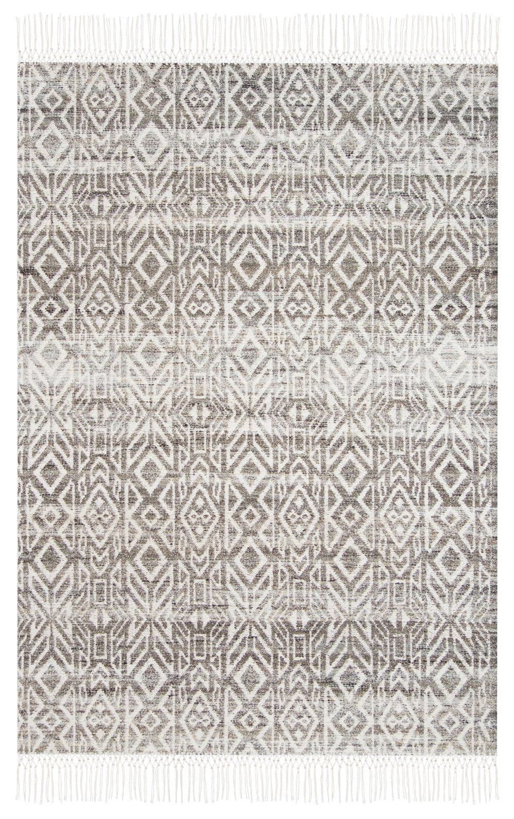 Aviva Brown and Ivory Transitional Tribal Rug
