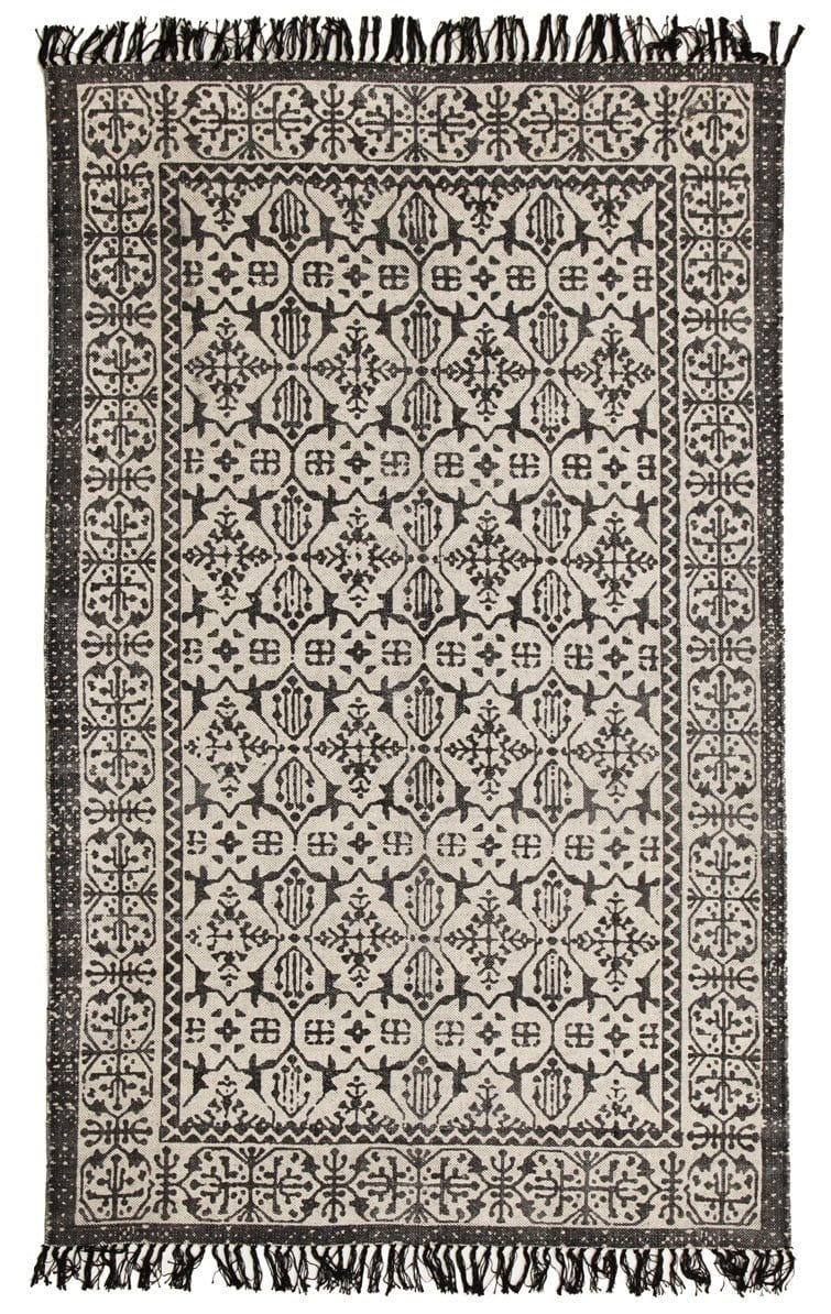 Serowe Printed Tribal Fringed Cotton Rug