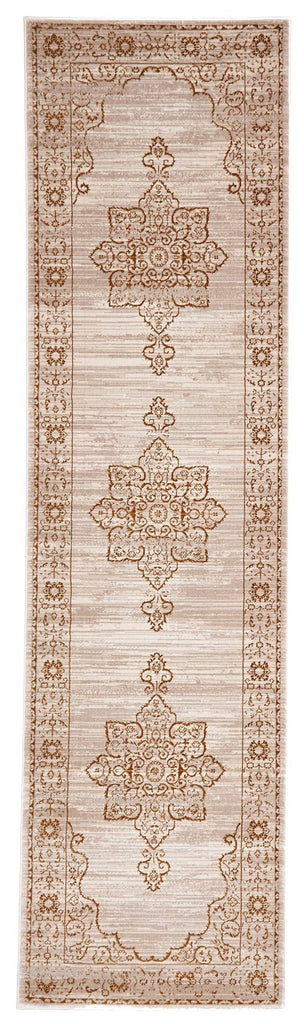 Bolu Beige & Gold Traditional Style Runner Rug