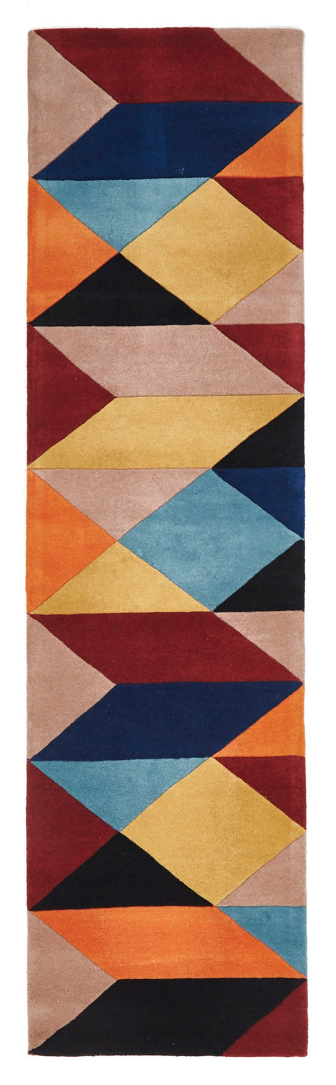 Bremen Land & Sea Geometric Wool Runner Rug