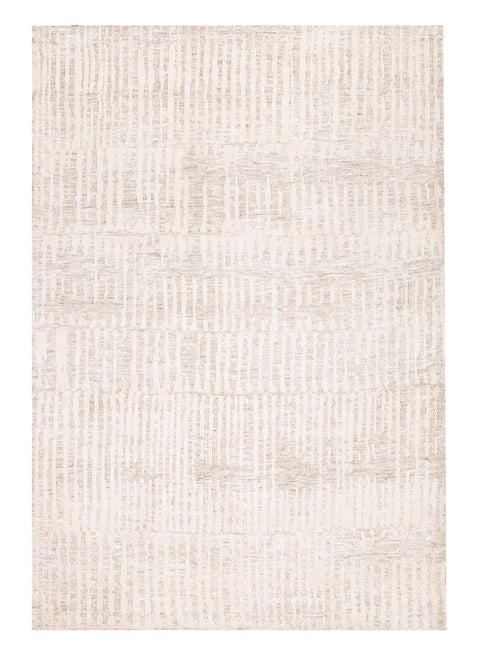 Brianna Ivory and Beige Tribal Transitional Rug