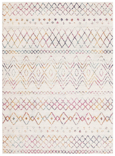 Casablanca Cream & Multi-Coloured Tribal Pattern Rug