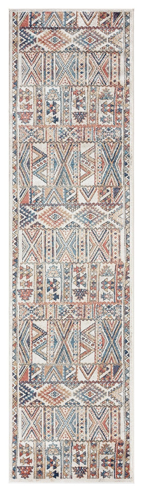 Cassie Orange and Blue Multi Colour Tribal Runner Rug