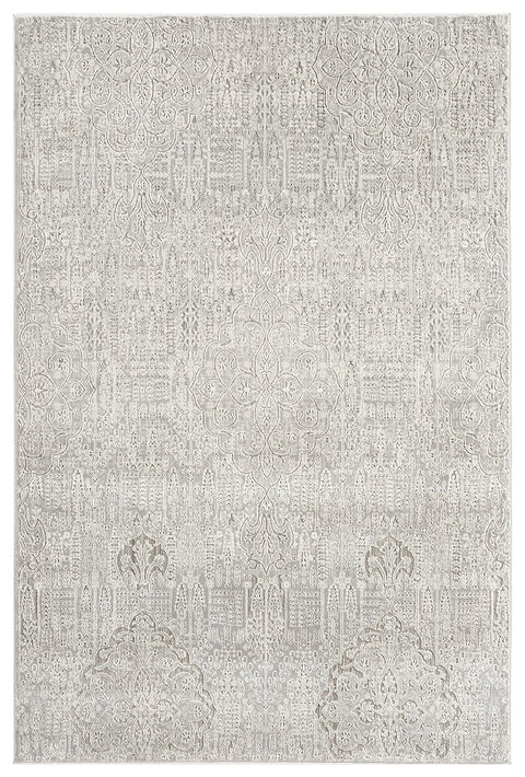 Celine Grey Ivory and Cream Traditional Floral Rug