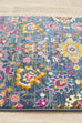 Chatres Blue Traditional Floral Runner Rug