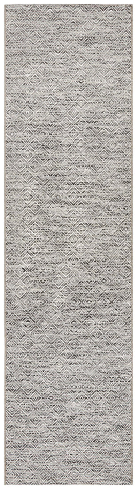 Cordoba Natural Stone Grey Diamond Runner Rug
