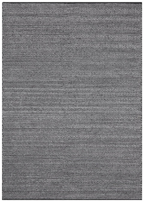 Creede Charcoal Looped and Woven Flatweave Rug