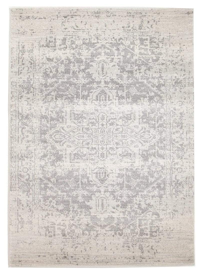 Arsuk Ivory & Grey Distressed Transitional Rug