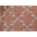Assa Burnt Orange Moroccan Lattice Wool Rug