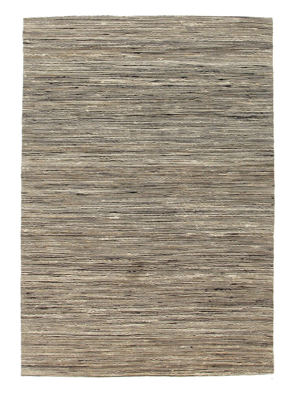 Pupukea Black & Natural Striped Hemp Rug