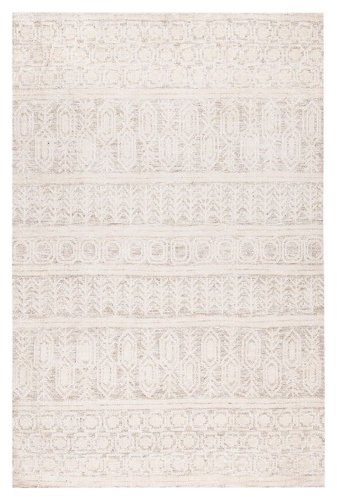 Delphine Ivory and Beige Tribal Transitional Rug