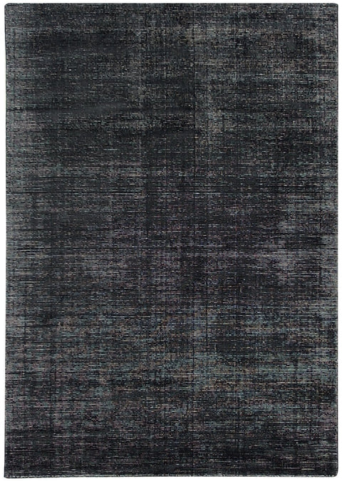 Dharan Charcoal Distressed Wool Blend Rug