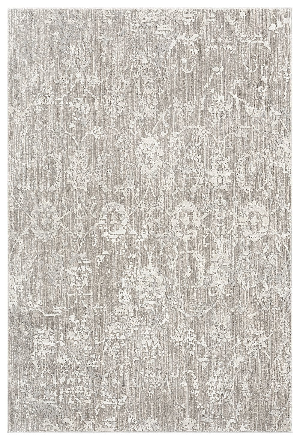 Eliana Grey Ivory and Cream Traditional Floral Rug