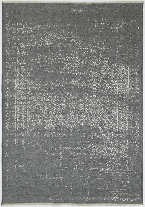 Elmira Grey and Charcoal Transitional Distressed Reversible Rug