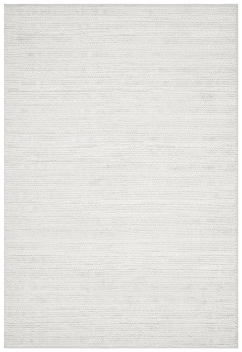 Estes Ivory Cream Looped and Woven Flatweave Rug