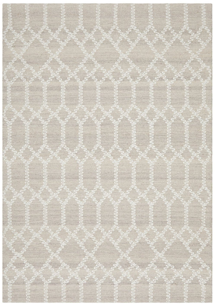 Eureka Natural Brown and Ivory Geometric Rug