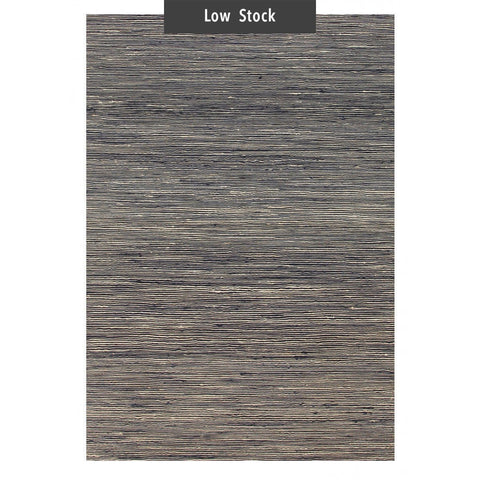 Kahuku Charcoal Grey Striped Hemp Rug (Low Stock)