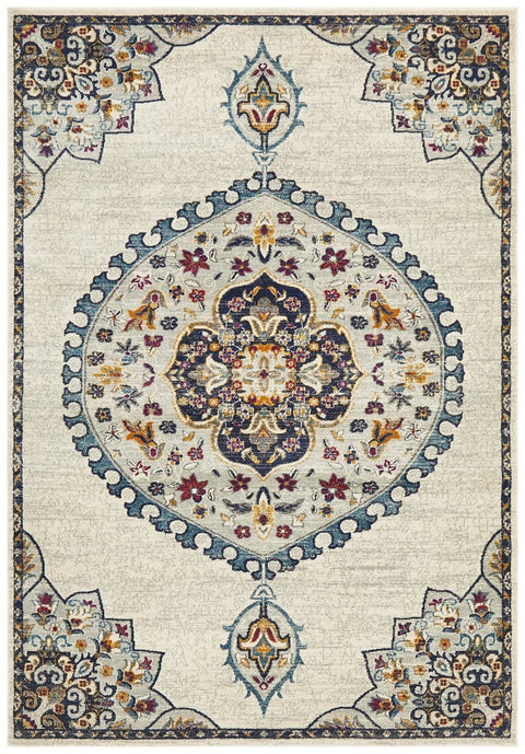 Fontaine Cream Traditional Medallion Rug