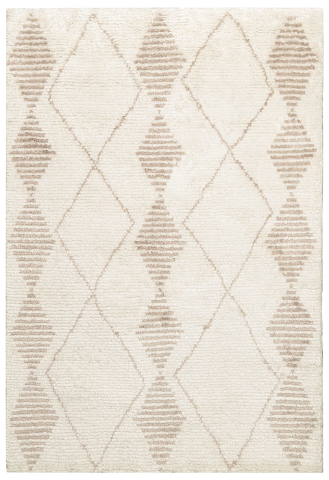 Frankie Ivory and Beige Tribal PET Rug
