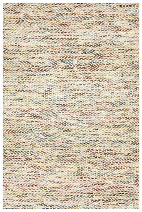 Fureso Multicoloured Chevron Pattern Flatweave Rug