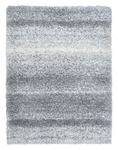 Ghana Grey and Ivory Shag Indoor Mat