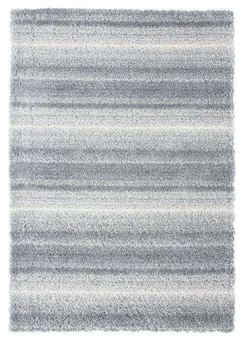 Ghana Grey and Ivory Shag Rug