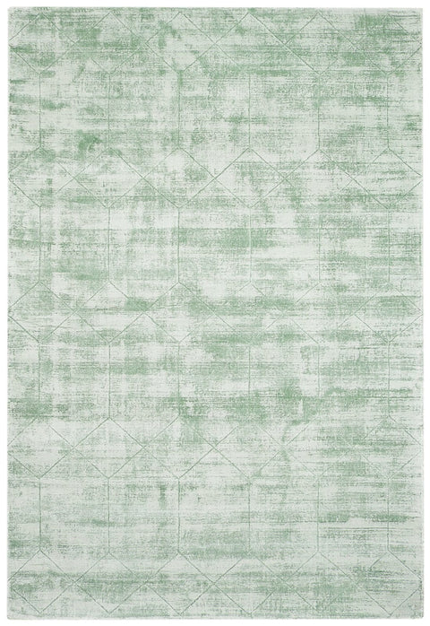 Harley Mint Green Geometric Viscose Rug