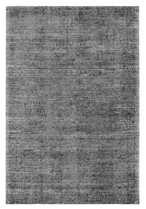 Jena Black and White Hand Loomed Cotton Rug