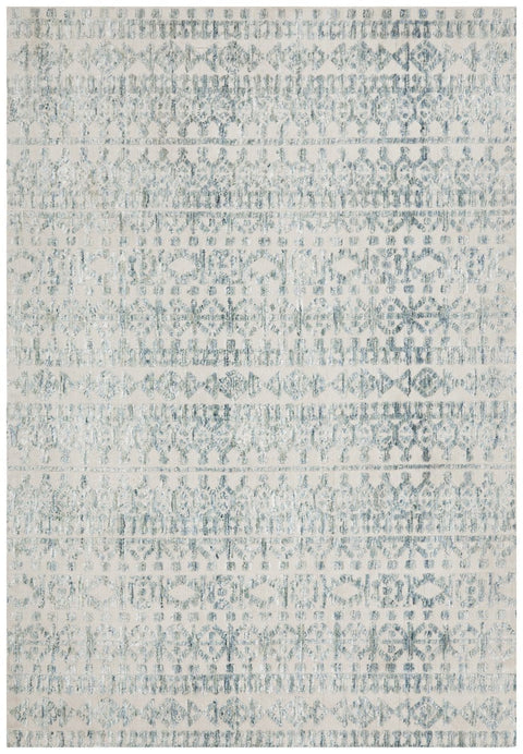 Kadiri Blue and Cream Transitional Rug