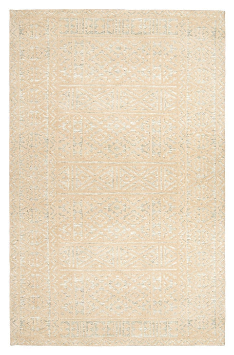 Kaia Hushed Green Grey and Beige Tribal Transitional Rug