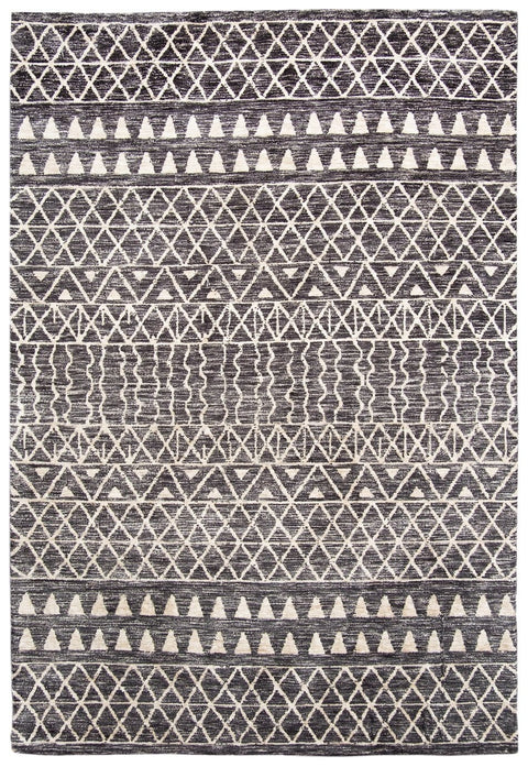 Kailani Charcoal Grey and Ivory Tribal Rug