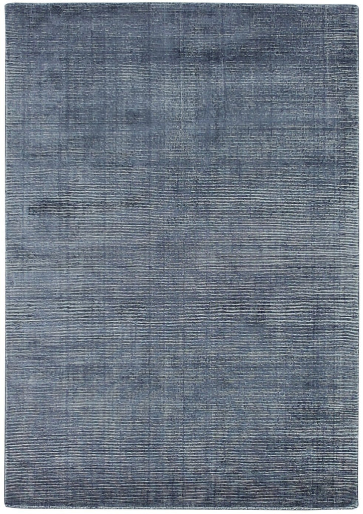 Kalaiya Indigo Distressed Wool Blend Rug