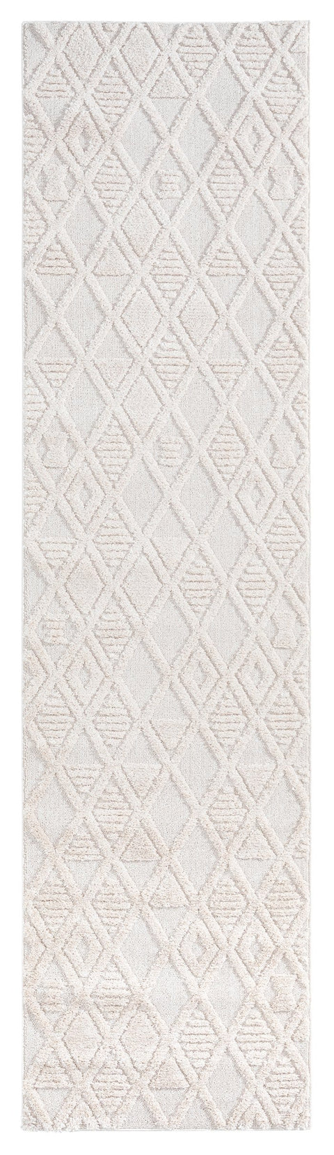 Kira Diamond Detail Textured Runner Rug