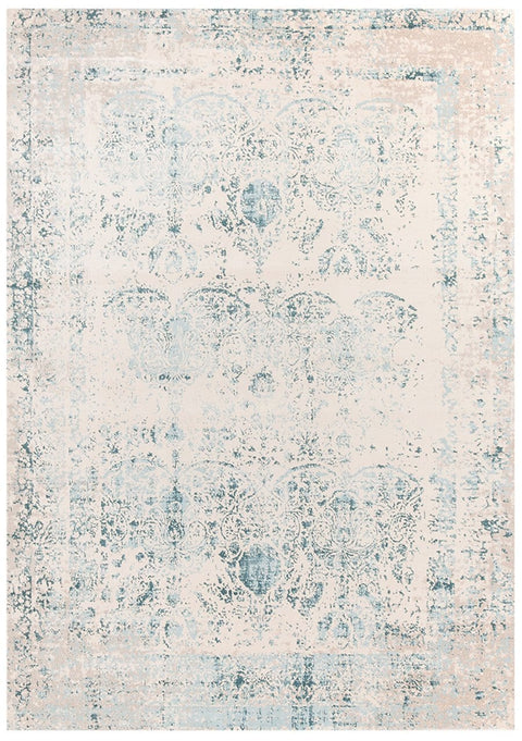 Konya Blue & Cream Traditional Rug