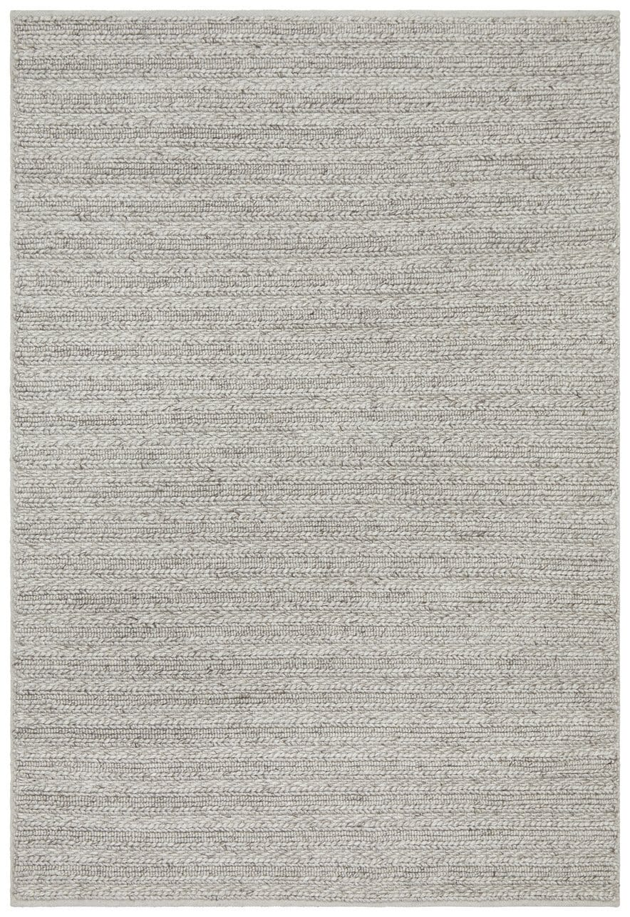 Kotka Silver Grey Chunky Knit Wool Rug