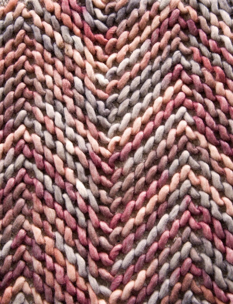 Lakia Peach and Pink Chevron Weave Rug