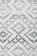 Larissa Blue and Ivory Transitional Tribal Rug