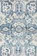 Laurent Blue & Grey Traditional Medallion Runner Rug