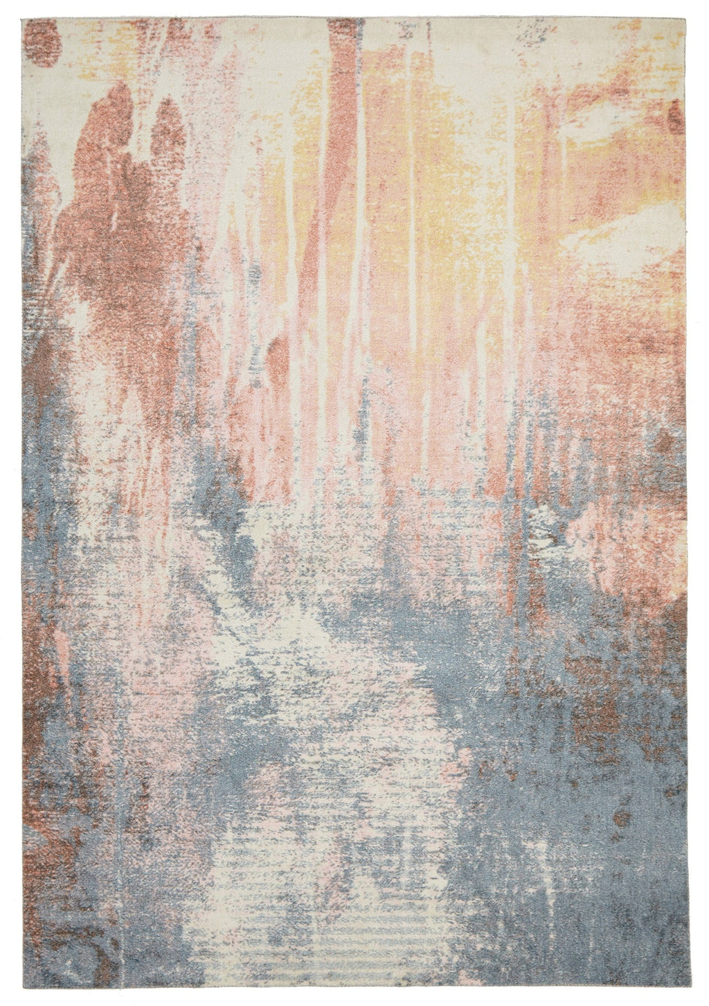 Lauves Multi-Colour Handcrafted Abstract Rug