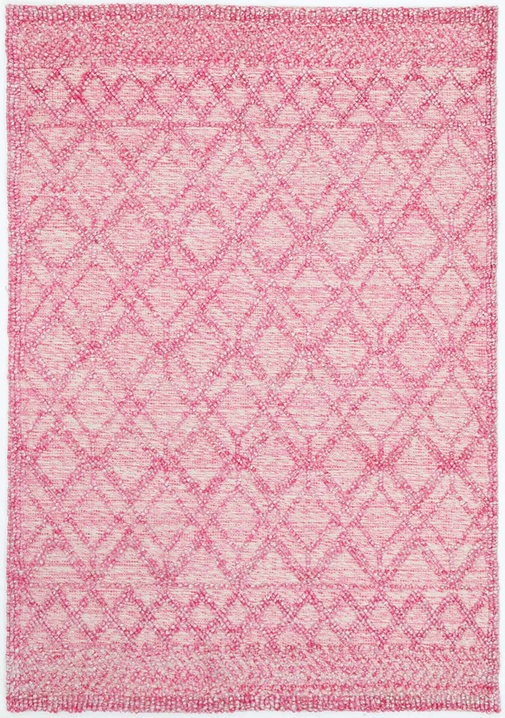 Laval Pink Diamiond Tribal Cotton and PET Rug