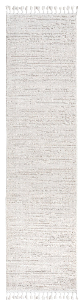 Leilani Ivory Cream Textured Runner Rug