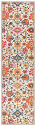 Lievin Multi Colour Traditional Floral Runner Rug