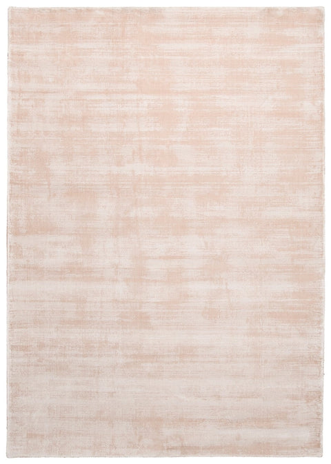 Lyla Blush Peach Distressed Viscose Rug