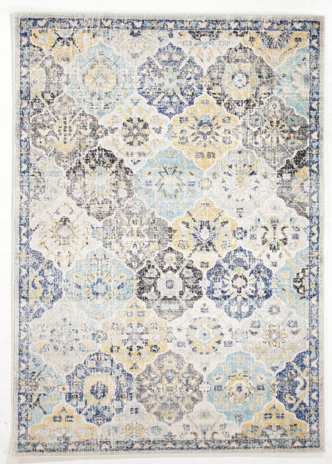 Mardin Blue & Yellow Floral Rug