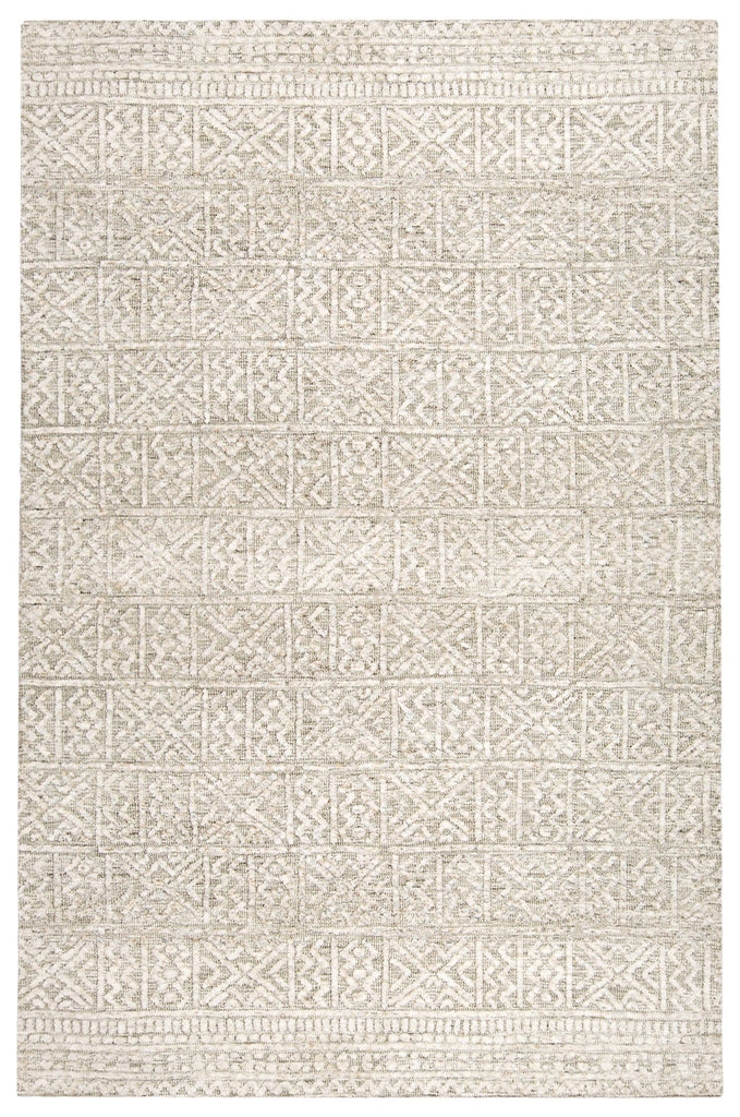Melia Grey and Ivory Tribal Textured Rug